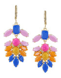 Carolee Rio Radiance Chandelier Pierced Earrings - Multi Coloured