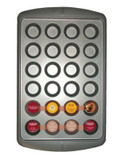 Paderno Mini 24 Cup Muffin Pan - STEEL