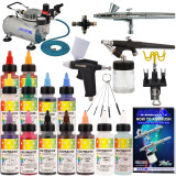 Master Pro Airbrush Cake Decorating 3 Airbrush Kit - TC20 Compressor - Air Filter/Regulator - 3-6' Air Hose -Multi-Airbrush Holder - Master G25 Gravity Feed Dual Action Master Airbrushes and Master G70 and E91 Suction Master Feed Airbrushes