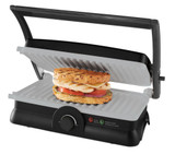 DuraCeramic Panini Maker and Grill (Black & silver)