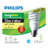 CFL 13W = 60W Mini Twister Soft White (2700K) - Case of 12 Bulbs