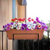 Deco Joe Adjustable Flower Box Holder in Black