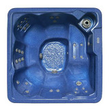 6-Person 30-Jet Hot Tub Spa with Lounger in Baltic Blue