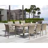 ASHENA 9PC OUTDOOR DINING SET BY SIRIO™
