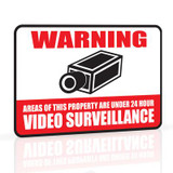 Security Warning Sign Aluminum with Reflective Coating 12x18 In.