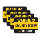 4 Pack of Window Warning Stickers