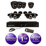 8 CH 960H DVR Surveillance System with 1TB HD and (8) 800TVL IR Weatherproof Cameras