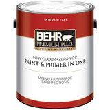 BEHR PREMIUM PLUS® Interior Flat Paint - Ultra Pure White; 3.79 L