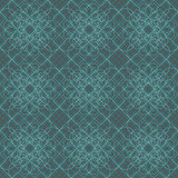 20.5 In. W Aqua Giro-Lace Print Wallpaper