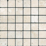 2 In. x 2 In. Tumbled Chiaro Travertine Mosaics