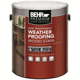 BEHR PREMIUM SEMI-TRANSPARENT WEATHERPROOFING WOOD STAIN; TINT BASE; 3.55 L