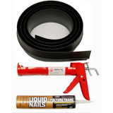 10 ft. Black Garage Door Threshold Kit