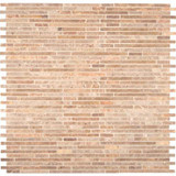 Crema Ivy Bamboo Pattern Honed Marble Mesh-mounted Mosaic Floor & Wall Tile