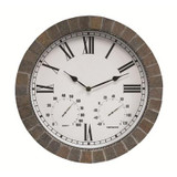 Marmora -15 inch Stone Indoor Outdoor Clock