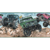 10.25 In. H Jewel Tone Monster Truck Border