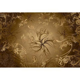 12 Feet 1 Inches x 8 Feet 4 Inches Gold Wall Mural
