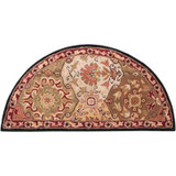 Abbaretz Red Wool Hearth Accent Rug - 2 Ft. x 4 Ft. Area Rug