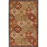 Abbaretz Red Wool  - 7 Ft. 6 In. x 9 Ft. 6 In. Area Rug