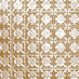 2 Feet x 2 Feet Brass Plated Steel Lay-In Ceiling Tile Design Repeat Every 3 Inches