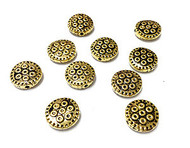 10 gold plated 9mm bead Spacers