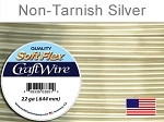 10 yds 22 ga non tarnish silver Soft Flex craft wire