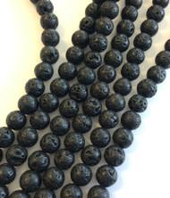 10mm Gemstone Round natural Lava Beads