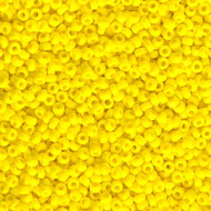 11/0 Japanese Op Yellow Glass Seed Beads