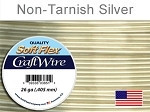15 yds 26 ga non tarnish silver Soft Flex craft wire