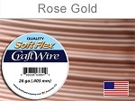 15 yds 26 ga silver plated rose gold Soft Flex craft wire