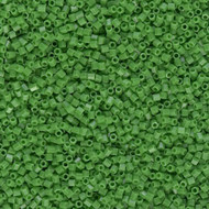 15/0 Japanese Hex Opaque Green Glass Seed Beads 15 Grams