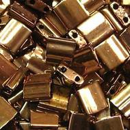 2 Hole  Met Bronze Tila Seed beads 10 Grams