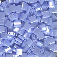 2 Hole 5mm Tila OP Lt Periwinkle Luster Seed Beads 10 Grams