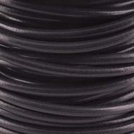 2 meters Genuine Round Leather Cord Black 1.5mm