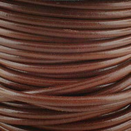 2 meters Genuine Round Leather Cord Cognac 1.5mm