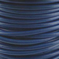 2 meters Genuine Round Leather Cord Dark Blue 1.5mm