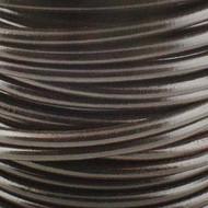 2 meters Genuine Round Leather Cord Dark Brown 1.5mm
