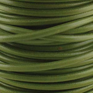 2 meters Genuine Round Leather Cord Pistachio 1.5mm