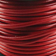 2 meters Genuine Round Leather Cord Red 1.5mm