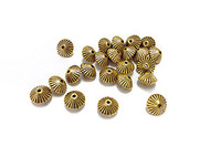 24 Gold plated bicone bead Spacers
