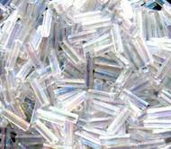 3mm Bugle Japanese Crystal AB Glass Beads 15 Gram