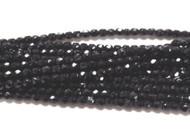 3mm Czech Jet fire Polished Glass beads