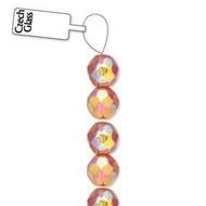 4mm Czech Amber AB fire Polished Glass beads