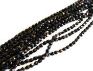 4mm Czech Black Bronze Fire Polished Glass Beads