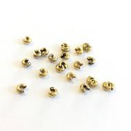 5mm Antique Gold Plated Crimp Bead Cover 50PCS