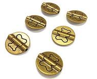 6 bronze 15mm bead Spacers