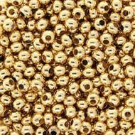 6/0 24 karat Gold Plated Seed beads 10 Gram Bag