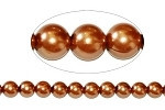 6mm Coffee Blend Czech round smooth Glass Pearl