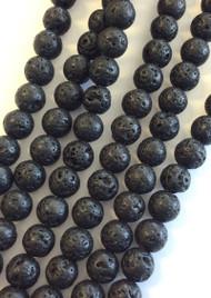 6mm Gemstone Round natural Lava Beads