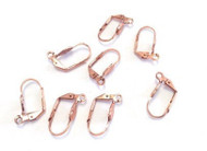8 copper plated lever back earring findings