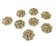 8 Gold Plated 18mm kumihimo bead caps